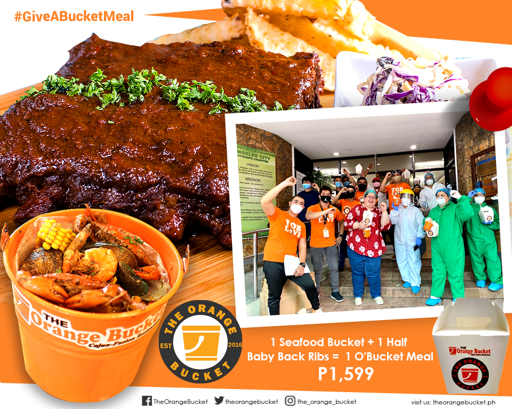 ENJOY OUR BEST-SELLING SEAFOOD BUCKET + BABY BACK RIBS WHILE HELPING FEED FRONTLINERS!