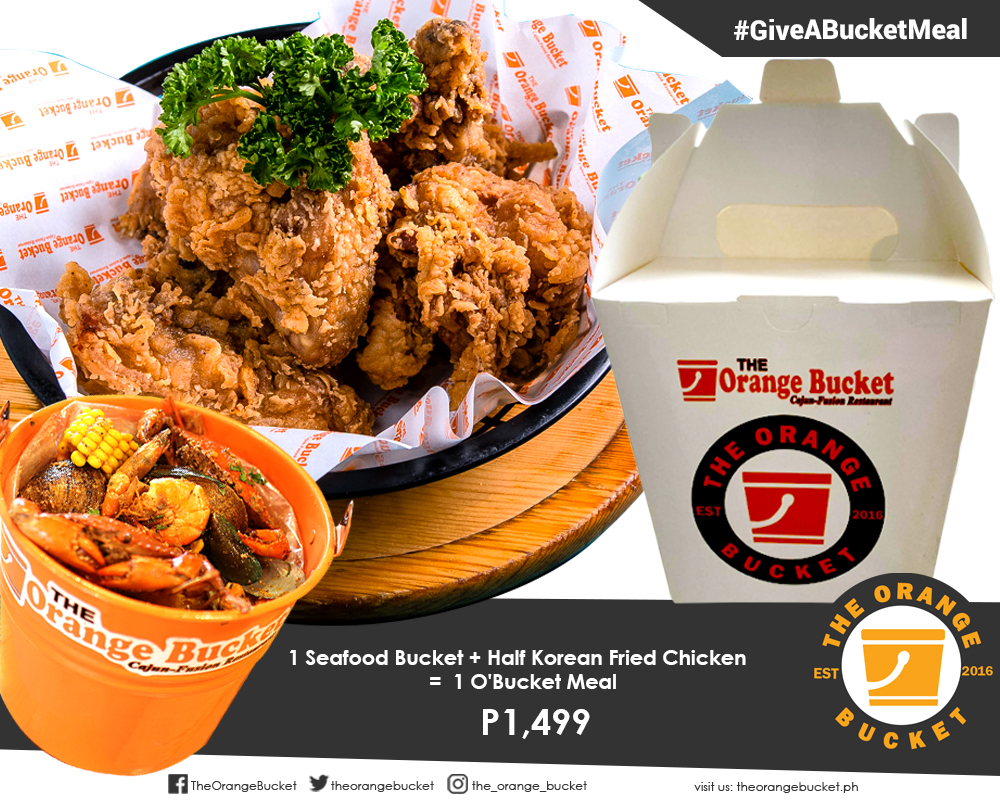 ENJOY YOUR FAVORITE SEAFOOD BUCKET + KOREAN FRIED CHICKEN WHILE HELPING FEED THE LESS-FORTUNATE!