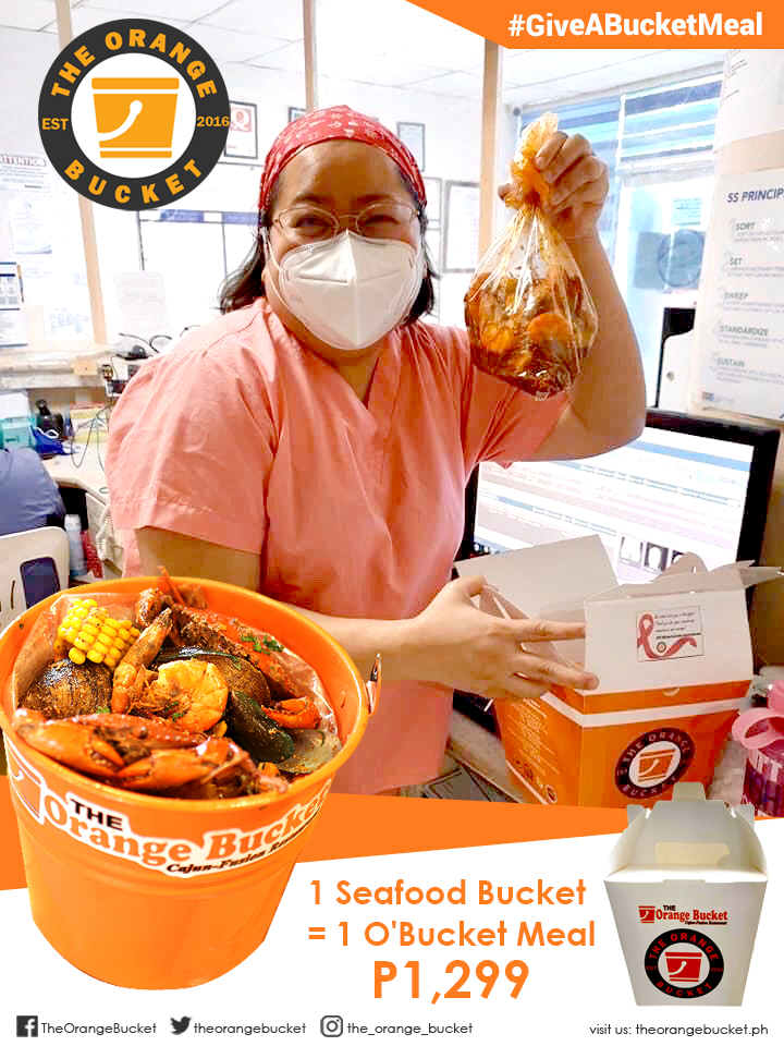 ENJOY YOUR FAVORITE SEAFOOD BUCKET WHILE HELPING FEED FRONTLINERS!